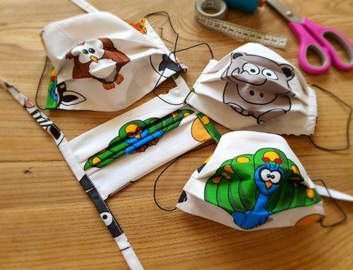 Sterne, Tupfen oder Uni? Schaf, Dino oder Zebra? Bei uns wird deine Mundmaske zum Unikat!